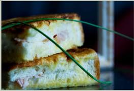 cuisine italienne, pain doré à la romaine