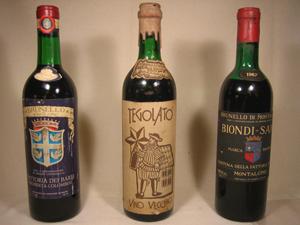 3 fameux vins italiens