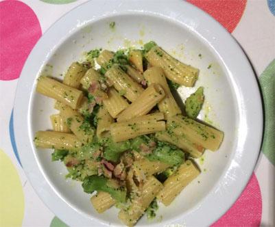 pâtes et brocoli