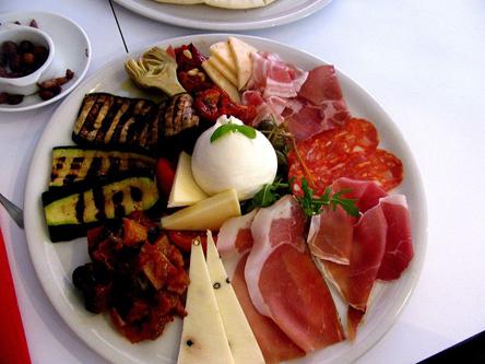 cuisine italienne, antipasti