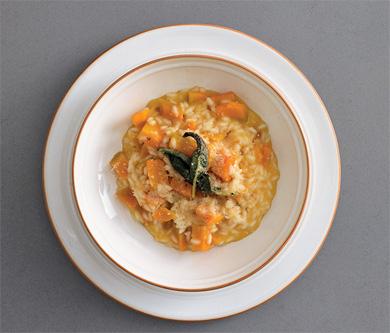 cuisine italienne, risotto potiron
