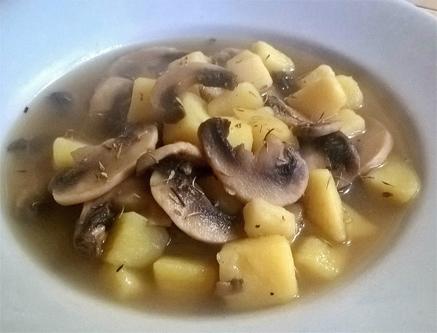 cuisine italienne, patates et champignons
