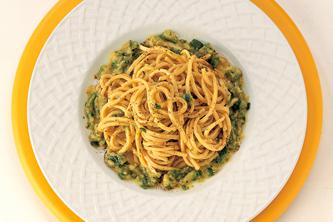 cuisine italienne, pates aux courgettes
