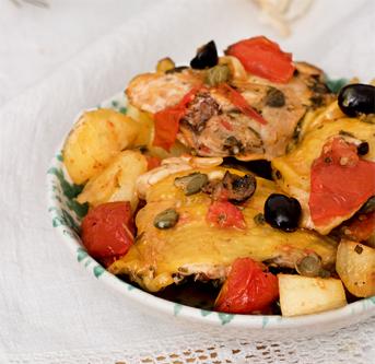 cuisine italienne, poulet ligurienne